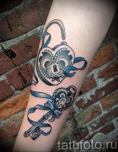 фото тату Ключ 03.05.2019 №211 - tattoo key - tattoo-photo.ru