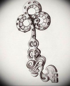 фото тату Ключ 03.05.2019 №222 - tattoo key - tattoo-photo.ru