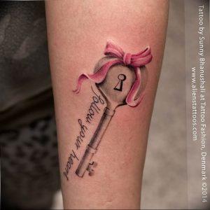 фото тату Ключ 03.05.2019 №257 - tattoo key - tattoo-photo.ru