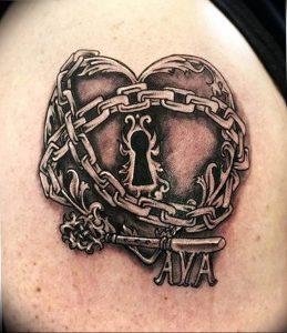 фото тату Ключ 03.05.2019 №329 - tattoo key - tattoo-photo.ru
