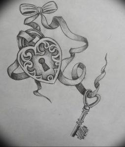 фото тату Ключ 03.05.2019 №341 - tattoo key - tattoo-photo.ru