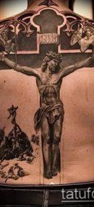 фото тату Распятие 01.05.2019 №008 - crucifix tattoo - tattoo-photo.ru