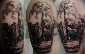 фото тату Распятие 01.05.2019 №025 - crucifix tattoo - tattoo-photo.ru