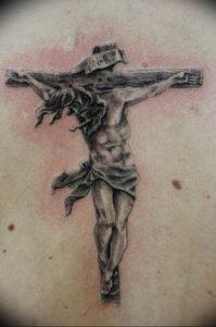 фото тату Распятие 01.05.2019 №030 - crucifix tattoo - tattoo-photo.ru