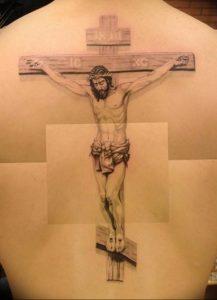 фото тату Распятие 01.05.2019 №037 - crucifix tattoo - tattoo-photo.ru