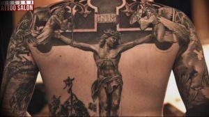 фото тату Распятие 01.05.2019 №039 - crucifix tattoo - tattoo-photo.ru
