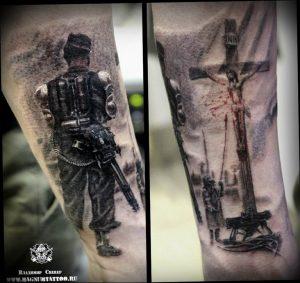фото тату Распятие 01.05.2019 №040 - crucifix tattoo - tattoo-photo.ru