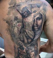 фото тату Распятие 01.05.2019 №042 — crucifix tattoo — tattoo-photo.ru
