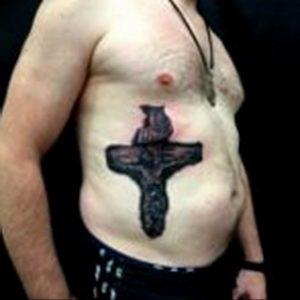 фото тату Распятие 01.05.2019 №045 - crucifix tattoo - tattoo-photo.ru