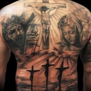 фото тату Распятие 01.05.2019 №056 - crucifix tattoo - tattoo-photo.ru