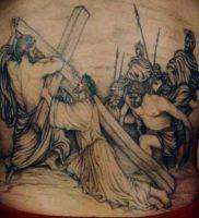 фото тату Распятие 01.05.2019 №059 — crucifix tattoo — tattoo-photo.ru