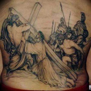фото тату Распятие 01.05.2019 №059 - crucifix tattoo - tattoo-photo.ru