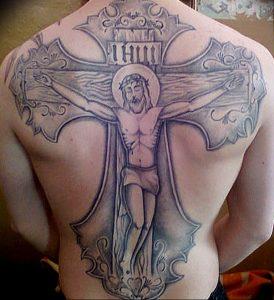 фото тату Распятие 01.05.2019 №062 - crucifix tattoo - tattoo-photo.ru