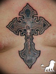 фото тату Распятие 01.05.2019 №063 - crucifix tattoo - tattoo-photo.ru