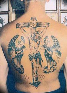 фото тату Распятие 01.05.2019 №073 - crucifix tattoo - tattoo-photo.ru