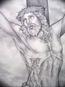 фото тату Распятие 01.05.2019 №076 - crucifix tattoo - tattoo-photo.ru