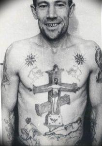 фото тату Распятие 01.05.2019 №077 - crucifix tattoo - tattoo-photo.ru