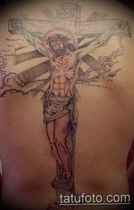 фото тату Распятие 01.05.2019 №081 - crucifix tattoo - tattoo-photo.ru