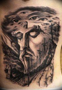 фото тату Распятие 01.05.2019 №082 - crucifix tattoo - tattoo-photo.ru