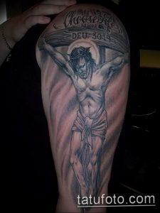 фото тату Распятие 01.05.2019 №090 - crucifix tattoo - tattoo-photo.ru