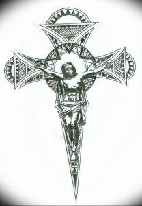 фото тату Распятие 01.05.2019 №093 - crucifix tattoo - tattoo-photo.ru