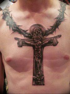 фото тату Распятие 01.05.2019 №102 - crucifix tattoo - tattoo-photo.ru