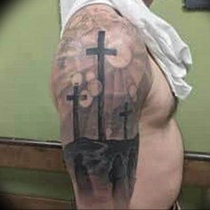 фото тату Распятие 01.05.2019 №103 - crucifix tattoo - tattoo-photo.ru