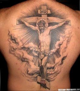 фото тату Распятие 01.05.2019 №109 - crucifix tattoo - tattoo-photo.ru