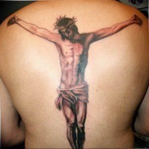 фото тату Распятие 01.05.2019 №113 - crucifix tattoo - tattoo-photo.ru