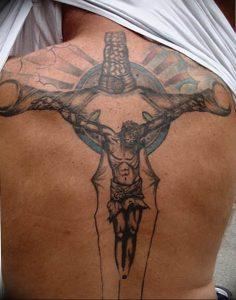 фото тату Распятие 01.05.2019 №115 - crucifix tattoo - tattoo-photo.ru