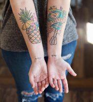 фото тату ананас 24.04.2019 №014 — tattoo pineapple — tattoo-photo.ru