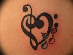 фото тату басовый ключ 01.05.2019 №021 - tattoo bass clef - tattoo-photo.ru
