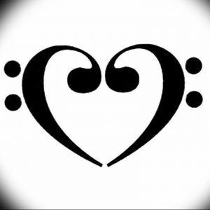 фото тату басовый ключ 01.05.2019 №033 - tattoo bass clef - tattoo-photo.ru