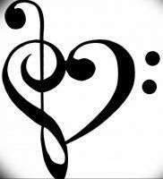 фото тату басовый ключ 01.05.2019 №071 — tattoo bass clef — tattoo-photo.ru