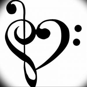 фото тату басовый ключ 01.05.2019 №071 - tattoo bass clef - tattoo-photo.ru