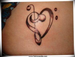 фото тату басовый ключ 01.05.2019 №115 - tattoo bass clef - tattoo-photo.ru