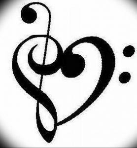 фото тату басовый ключ 01.05.2019 №145 - tattoo bass clef - tattoo-photo.ru