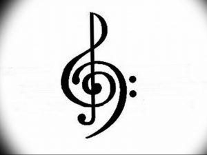 фото тату басовый ключ 01.05.2019 №181 - tattoo bass clef - tattoo-photo.ru