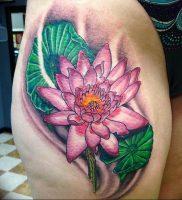 фото тату кувшинка 30.04.2019 №007 — tattoo waterlily — tattoo-photo.ru