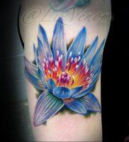 фото тату кувшинка 30.04.2019 №016 — tattoo waterlily — tattoo-photo.ru