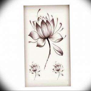фото тату кувшинка 30.04.2019 №026 - tattoo waterlily - tattoo-photo.ru