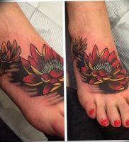 фото тату кувшинка 30.04.2019 №028 — tattoo waterlily — tattoo-photo.ru