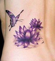 фото тату кувшинка 30.04.2019 №030 — tattoo waterlily — tattoo-photo.ru