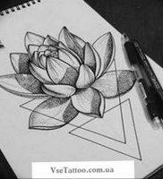 фото тату кувшинка 30.04.2019 №093 — tattoo waterlily — tattoo-photo.ru