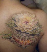 фото тату кувшинка 30.04.2019 №096 — tattoo waterlily — tattoo-photo.ru