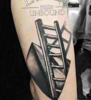 фото тату лестница 15.04.2019 №011 — tattoo ladder — tattoo-photo.ru