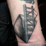 фото тату лестница 15.04.2019 №069 - tattoo ladder - tattoo-photo.ru