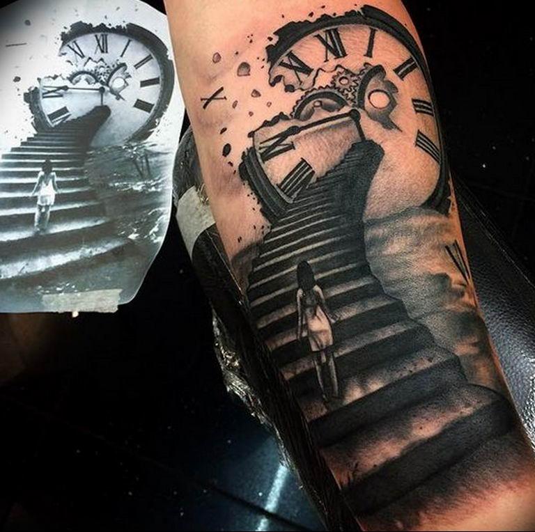 фото тату лестница 15.04.2019 №095 - tattoo ladder - tattoo-photo.ru