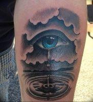 фото тату слеза 03.05.2019 №069 — tear tattoo — tattoo-photo.ru