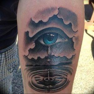 фото тату слеза 03.05.2019 №069 - tear tattoo - tattoo-photo.ru